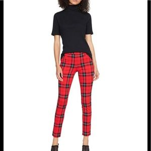 "SANCTUARY Plaid ""Grease Legging"" Med $89 NWT"